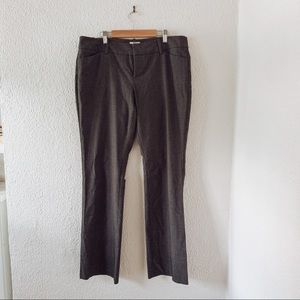 Grey casual stretchy straight leg pants